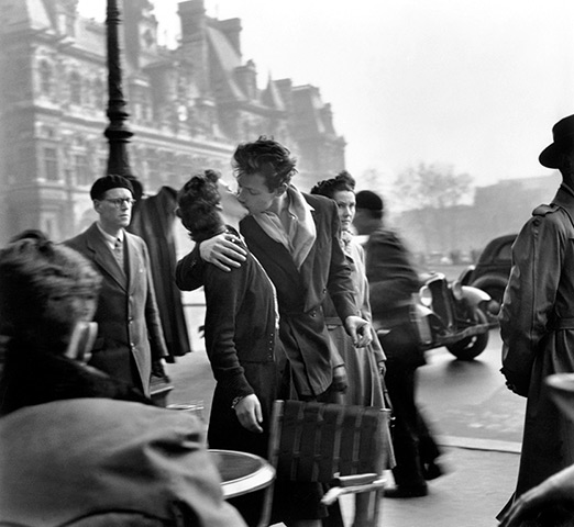 Kiss by the Hôtel de Ville, 1950, by Robert Doisneau