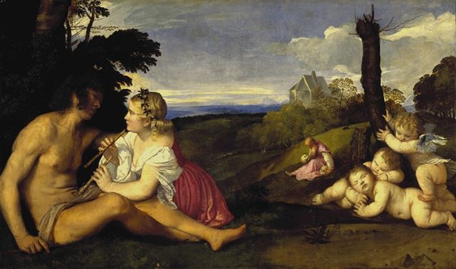 The Three Ages of Man, about 1512-14, by Titian